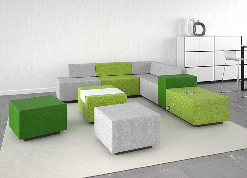 Jazz soft seating in a waiting area