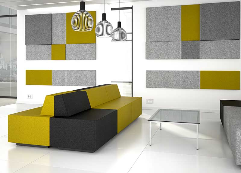 grey and mustard yellow Jazz sofa soft seating