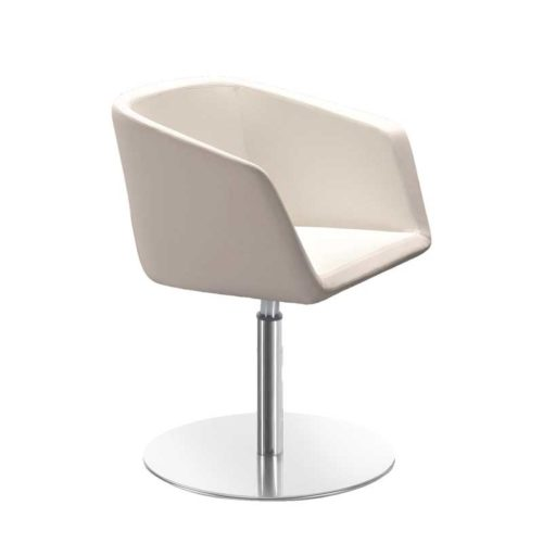 Meg chair with solid circle base