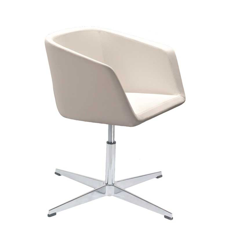 Meg chair with fixed swivel base