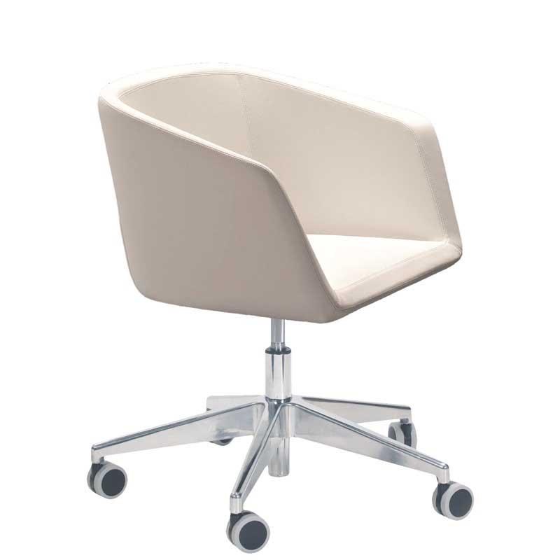 Meg chair with wheeled swivel base