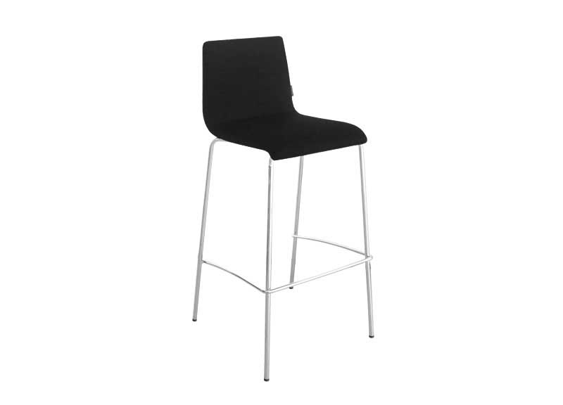 Moon high chair in black