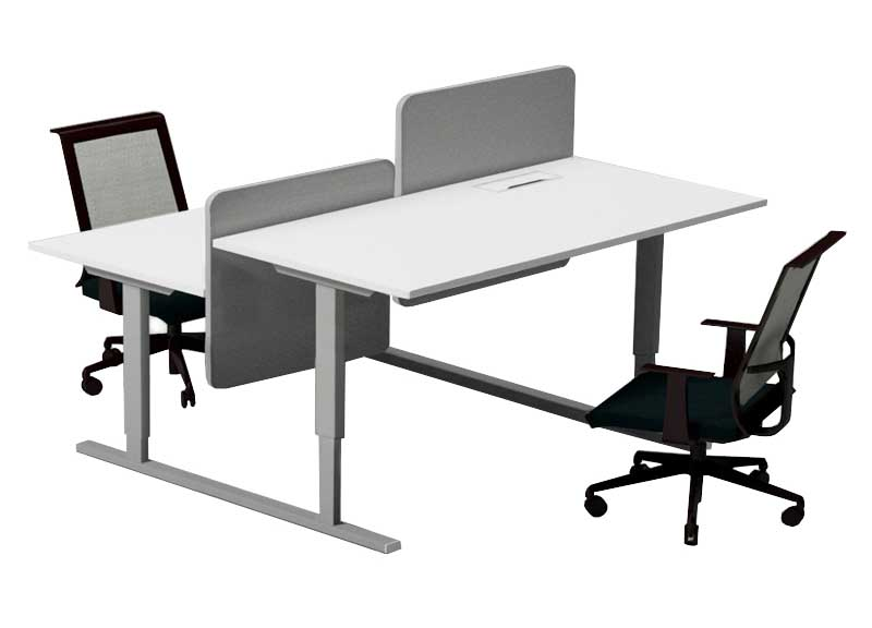 Narbutas Easy Desking sit stand height adjustable desk back to back , double desk