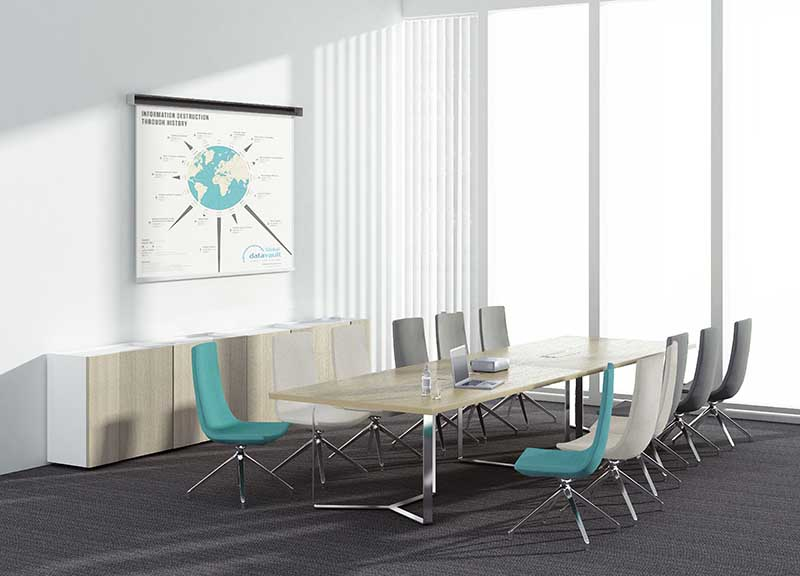 North Cape armless chairs around a conference table