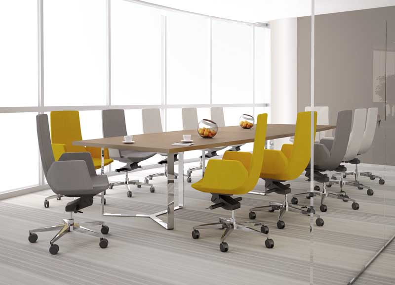 North Cape chairs with fixed armrests in meeting room