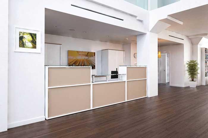 receptive reception desk in situ