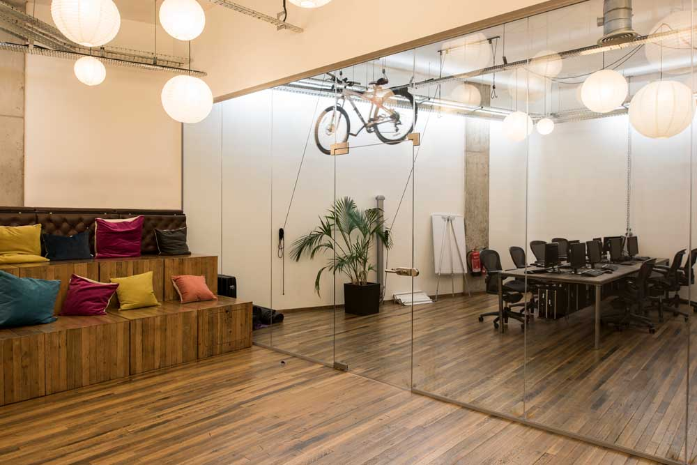 meeting room office made from office partitions by applied workplace
